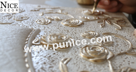 The ways of paint for the PU cornice